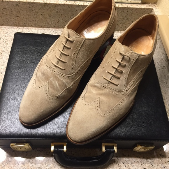 67952cd14ce53 Brooks Brothers Other - Brooks Brothers Peal and Co Suede Wingtip Shoes